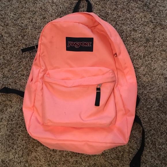 Jansport Handbags - Neon Coral Jansport Backpack fe35df7195034
