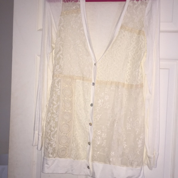 63% off Buckle Sweaters - NWOT lace button up cardigan from Lexi's ...