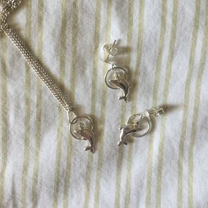 Jewelry - 🐬Dolphin necklace + earring set
