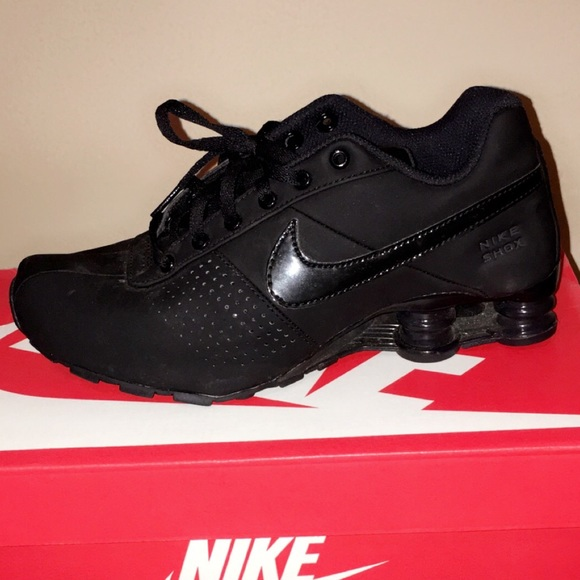 new style 713c3 15efe All black Nike SHOX DELIVER PNT GS S6.5 Y. M 570fc16041b4e0f6780046c2