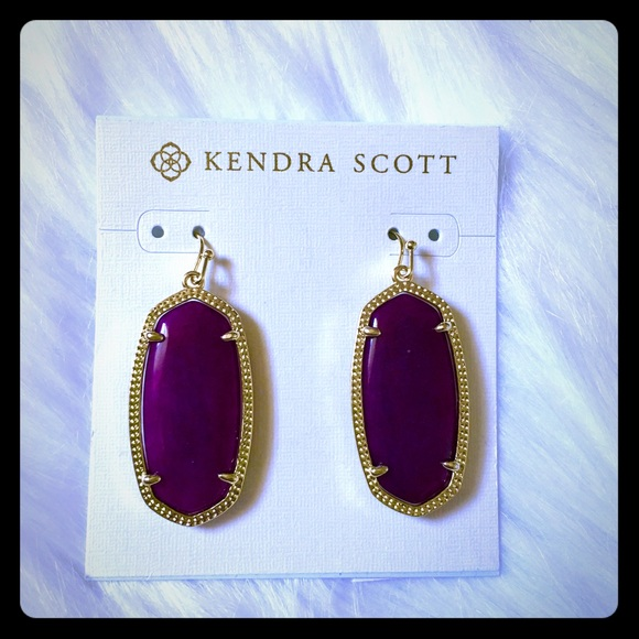 jade m elle nwt jewelry kendra earrings purple poshmark scott listing