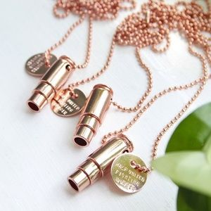 Rose Gold Bullet Necklace | SUMMER SALE