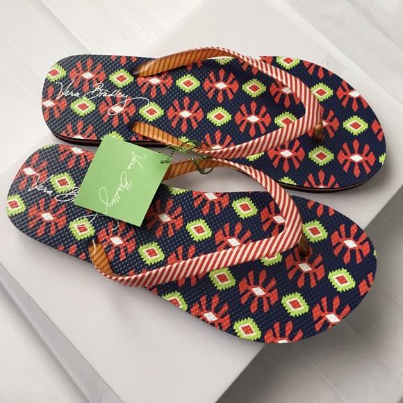 53342cbe085809 Vera Bradley Flip-flops! NWT