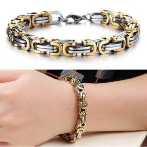 Square Byzantine Bracelet Gold Plated
