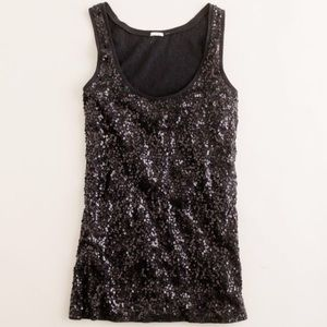 J. Crew sequin sleeveless top