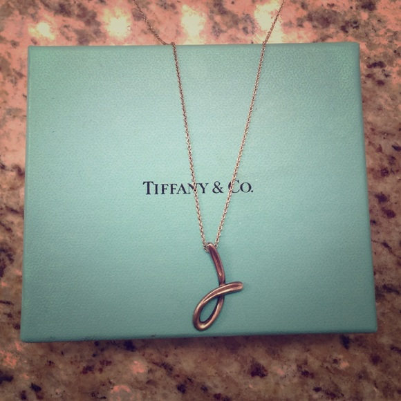 0defe5912 Tiffany & Co. Jewelry | Authentic Tiffanys Initial J Necklace | Poshmark