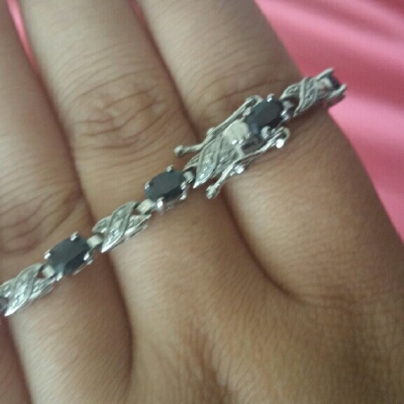 76 off zales jewelry sterling silver sapphire bracelet for Where is zales jewelry