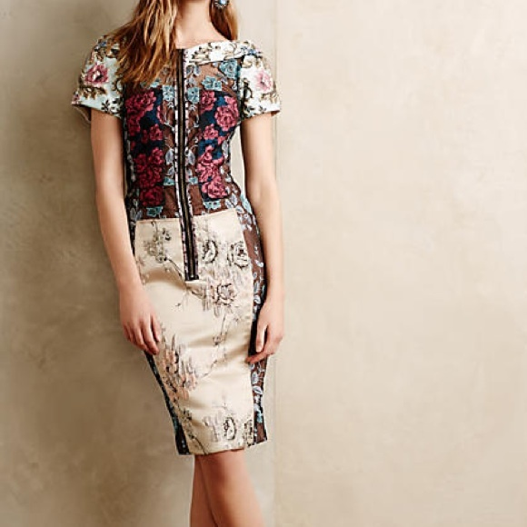 708deb14a2b1 Anthropologie Dresses | Sale Pieced Brocade Dress By Byron Larsnwt ...