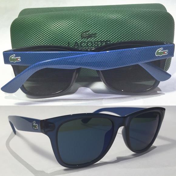 ad69416acf72 Lacoste Accessories - Lacoste  Piqué  Sunglasses Blue Wayfarer Unisex