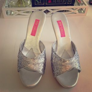 Betsey Johnson Shoes - Betsey Johnson Silver Glitter Polly's