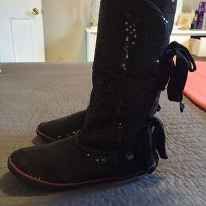 Shoes - Black Sequin Sugar boots