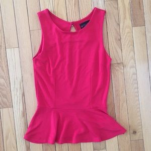 Body Central Tops - Red open back peplum top