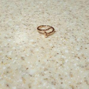 Rose gold Nail Ring