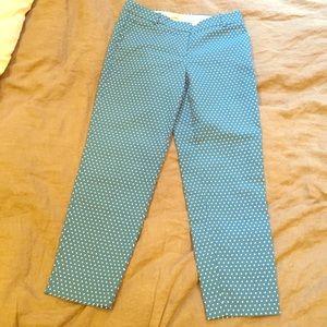 Jcrew polka dot blue pants