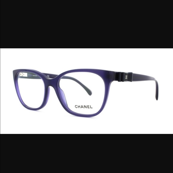 a4e37179f1 CHANEL Accessories - Chanel Eyeglasses 3284-Q Blue leather bow