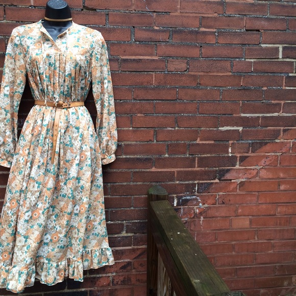 vintage vintage 70 s dallas floral print dress from