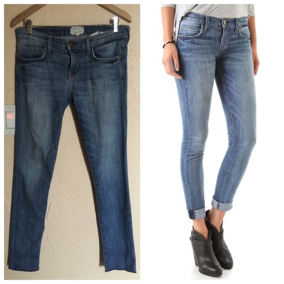 Current/elliott Woman Printed Skinny-leg Jeans Dark Denim Size 26 Current Elliott Free Shipping Explore GT8yNSibl