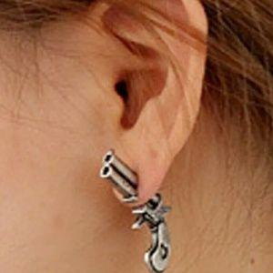 Jewelry - Final New pair of 3D gun revolver bullet earrings