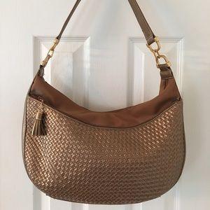 Perlina Handbags - 🛍 Perlina Metallic Bronze Leather Shoulder Bag