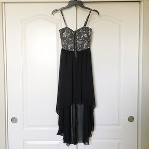 Love Culture Dresses & Skirts - NWT Black Zipper Front High-Low Homecoming Dress