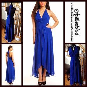 Donna Ricco Dresses & Skirts - ❗️1-HOUR SALE❗️Long Chiffon Dress Halter Gown
