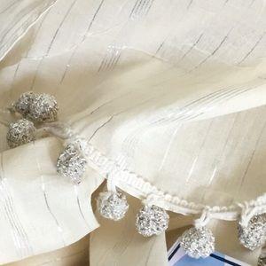 Ananda Design Accessories - Pom Pom scarf • wrap • sarong✨price firm✨