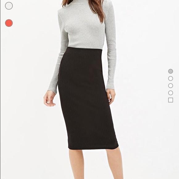 acecf8863b8 Forever 21 Black ribbed skirt