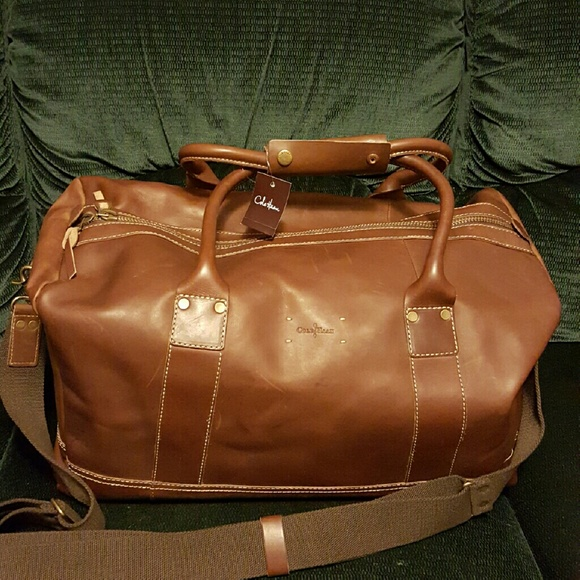 Cole Haan Leather Duffle Bag with Shoulder Strap fe5fff728d78a