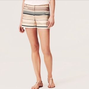 LOFT Pants - Loft Satiny Stripe Riviera Shorts