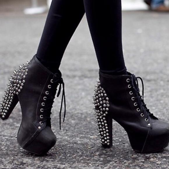 171d40d22 Jeffrey Campbell Shoes   Lita Black Spike Platforms   Poshmark