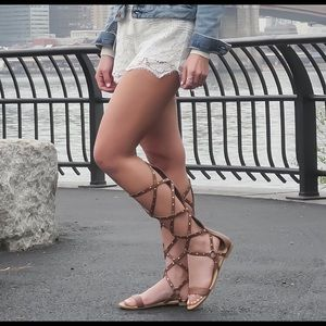 Bamboo Gladiator Sandals size 8