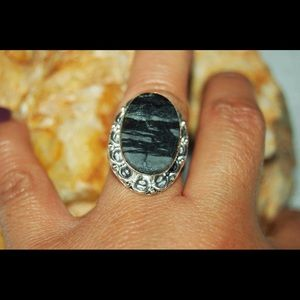 handmade & handcrafted gemstone jewelry Jewelry - Picasso Jasper Statement Ring Size 8