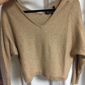 BCBGMaxazria Cropped Gold Sweater