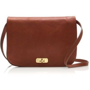 Jcrew Sophie brown leather cross body bag