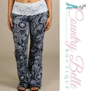 100% off Pants - Restock!! Plus size Dream Worthy lace Gaucho ...