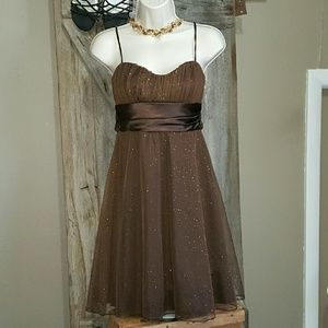 Studio Y Dresses & Skirts - Studio Y Chocolate Shimmer Party Dress, Size Small
