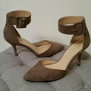 Gray Zara Around Ankle Heels