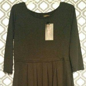Reborn black dress w/pockets nwt