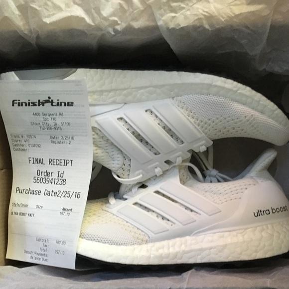 cfe2ae52604 Adidas All White Ultra Boost Women