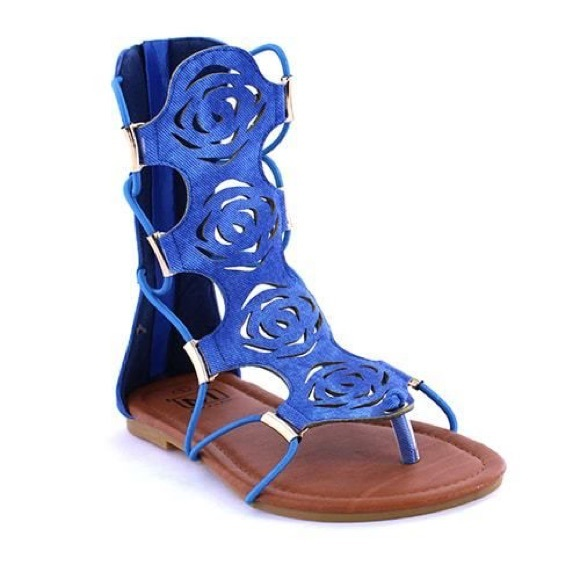 Makers - Sunset Denim Gladiator Sandals from Tracye's closet on ...