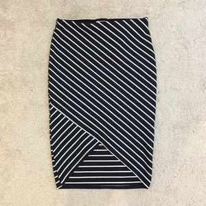 Zara Dresses & Skirts - Zara Stripe Midi Skirt