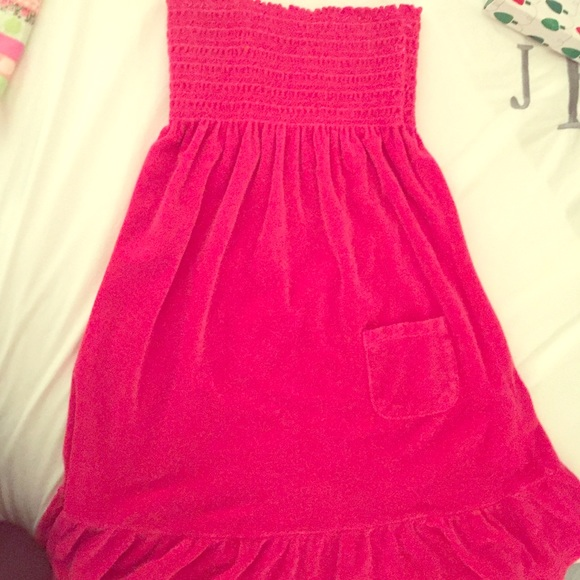 b7233ec2ec Juicy Couture Other - Juicy Couture Strapless terry cloth cover up