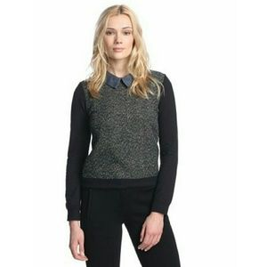 Isabel Lu  Sweaters - Isabel Lu Womens Collared Colorblock Top