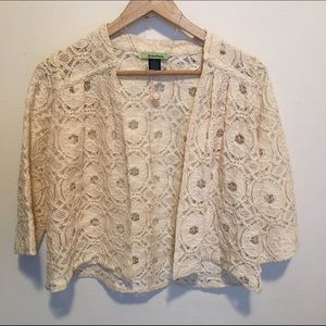 Tops - Ivory shrug/cover up