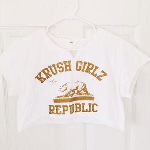 Krush Tops - Krush Girlz California 🐻 Republic Crop Top