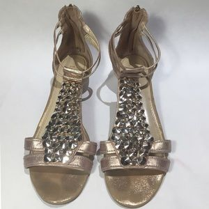 Enzo Angiolini Shoes - Enzo Angiolini Rose Gold Embellished Sandals