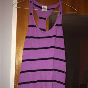 VS purple striped tank top