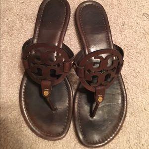 1b574c2074d3f9 Tory Burch Shoes - Tory burch chocolate brown Miller sandals Sz 10
