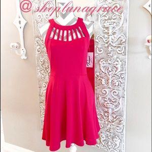 Trixxi Dresses & Skirts - 🌺HP🌺4/16. Pink Fit & Flare Dress