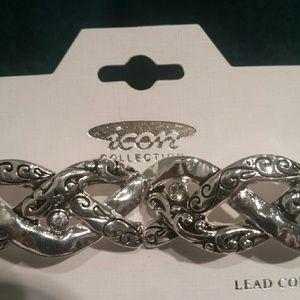 ICON Jewelry - Bracelet silver tone, stretch by Icon